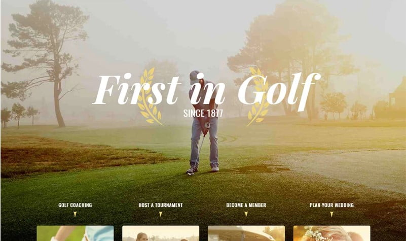 Triompher - 36+ Nice WordPress Golf Themes For Golf Clubs Websites [year]