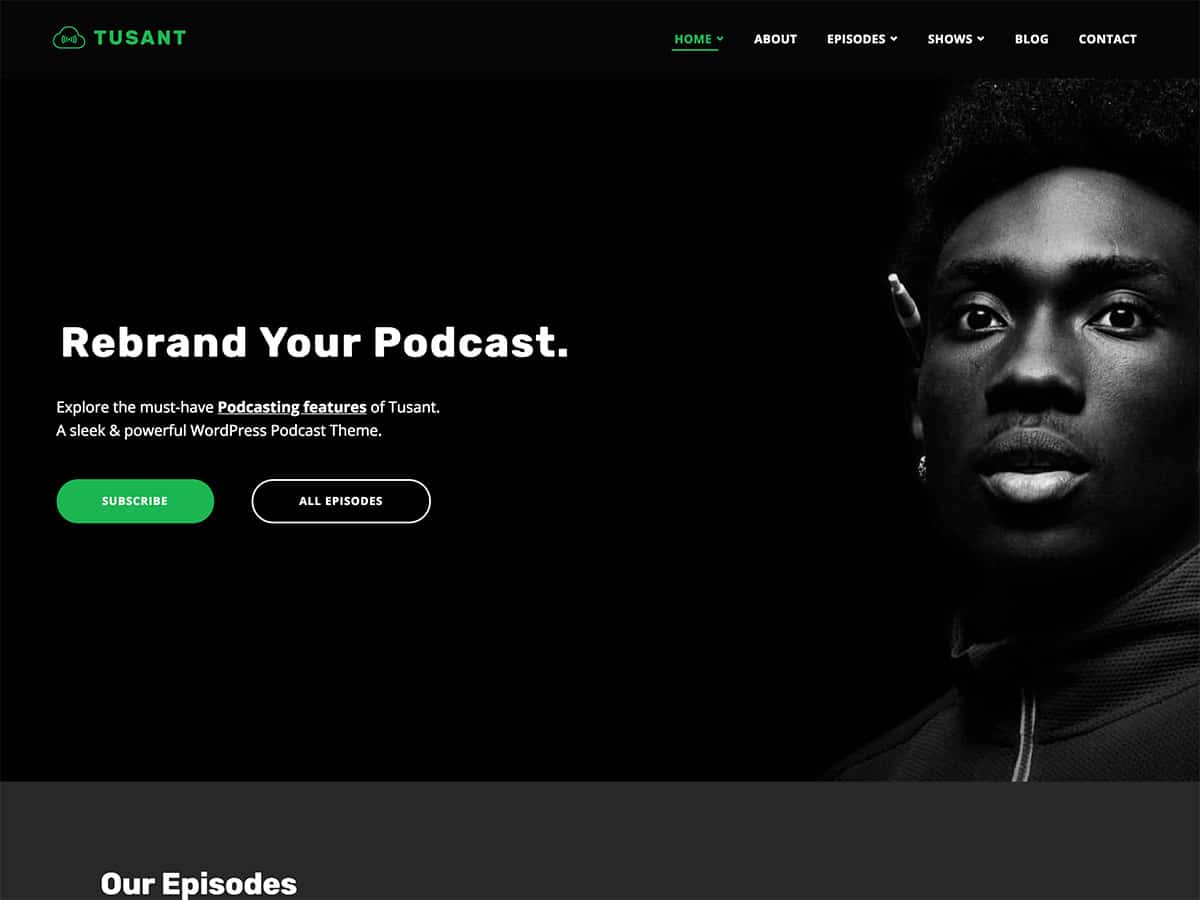 Tusant - 36+ Awesome WordPress Themes For Podcast [year]