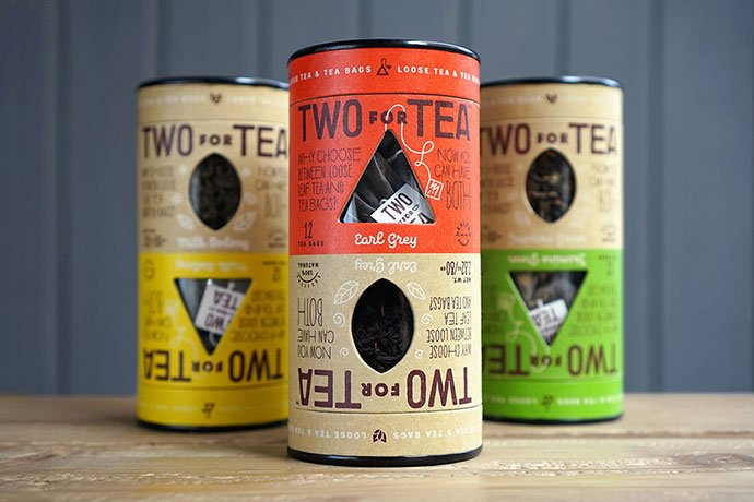 Two-For-Tea - 35+ Awesome Die Cut Packaging Designs Template [year]