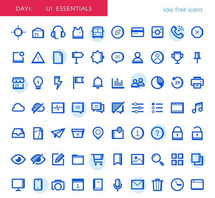 UI-Essentials - 35+ Awesome Free E-Commerce Icon Sets [year]