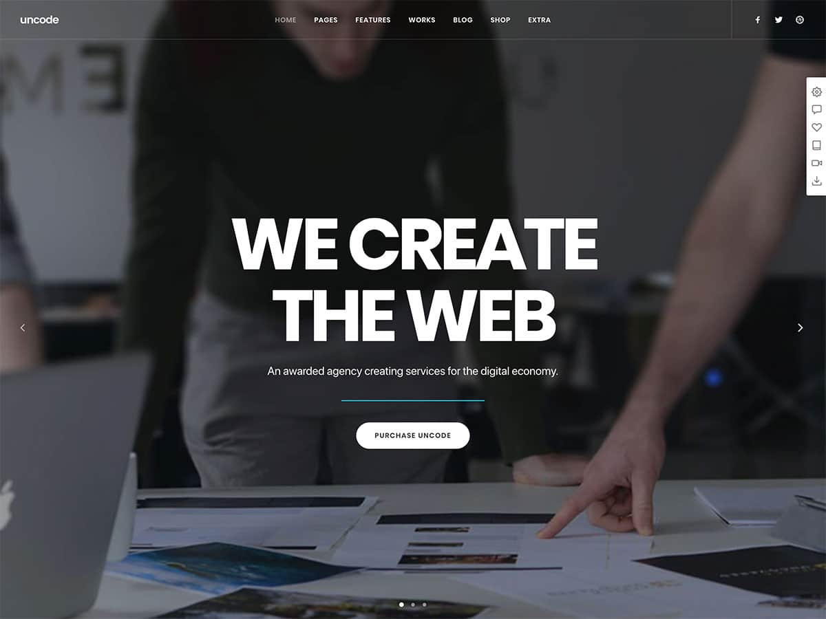 Uncode-1 - 31+ Amazing WordPress Themes For Creative [year]