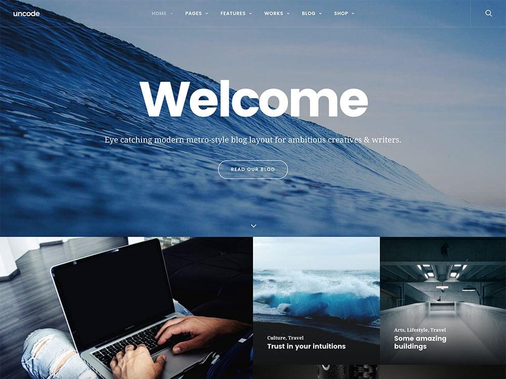 Uncode-2 - 35+ Nice WordPress Themes For Multipurpose [year]