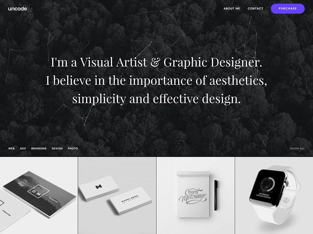 Uncode-4 - 31+ Awesome WordPress Themes For Artists [year]