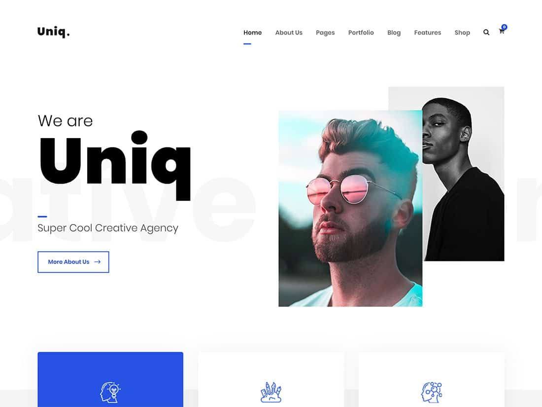 Uniq - 31+ Amazing WordPress Themes For Creative [year]