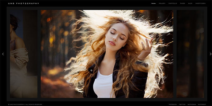 Uno - 31+ Nice WordPress Themes For Dark Photography Portfolio [year]
