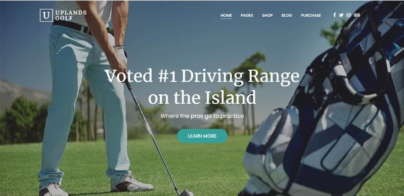 Uplands - 36+ Nice WordPress Golf Themes For Golf Clubs Websites [year]