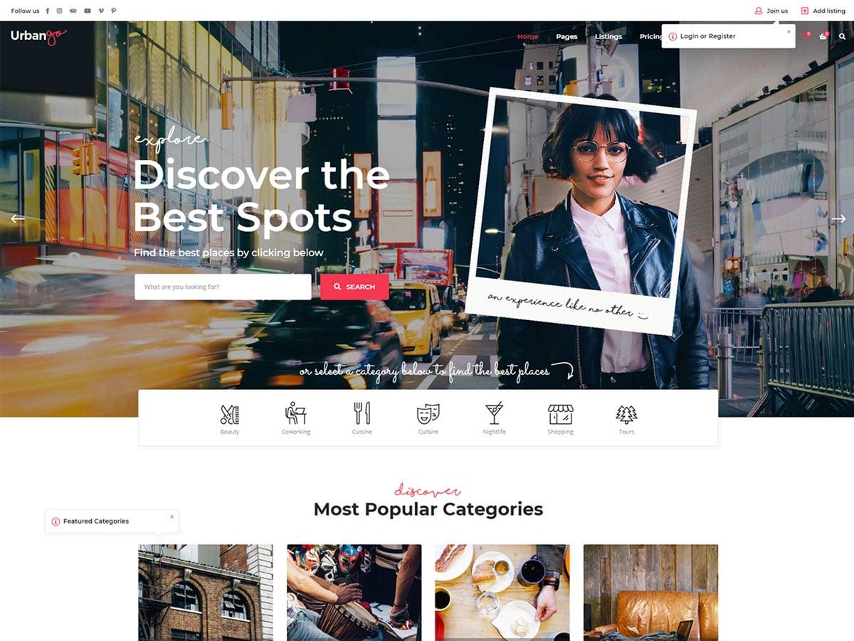 Urbango - 46+ Stunning WordPress Directory Themes [year]