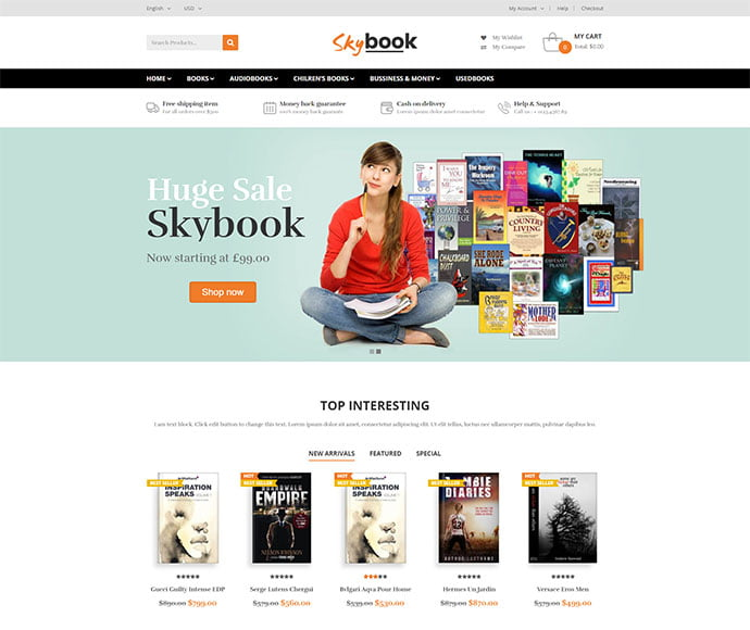 VG-Skybook - 31+ Nice Librarian & Bookseller WordPress Themes [year]