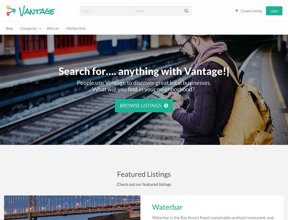 Vantage-1 - 46+ Stunning WordPress Directory Themes [year]