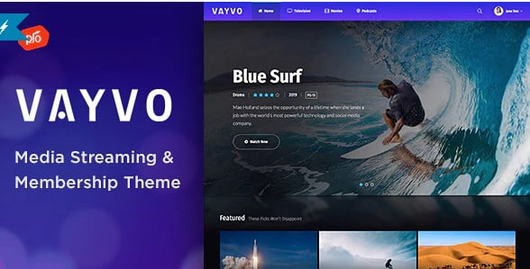 Vayvo - 36+ Awesome WordPress Themes For Podcast [year]