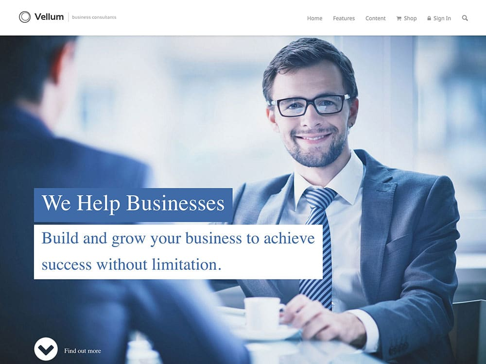 Vellum - 60+ Nice WordPress Themes For Business [year]