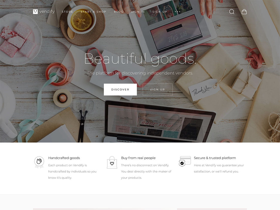 Vendify - 36+ Awesome WordPress Digital Products Selling Themes [year]