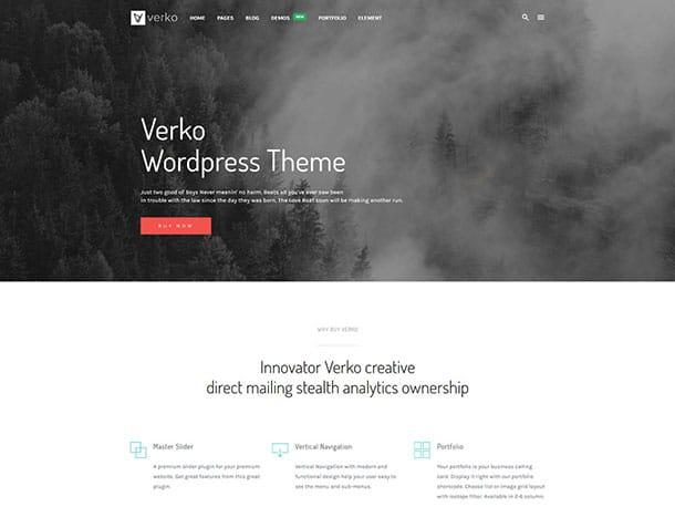 Verko - 36+ Awesome WordPress Marketing Themes [year]