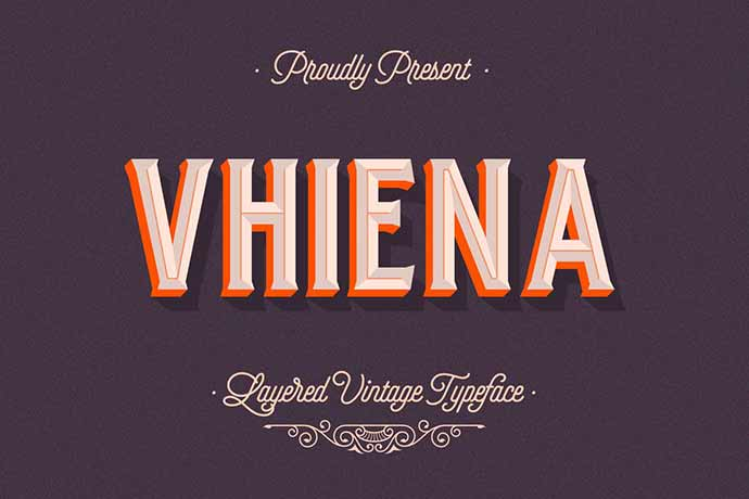 Vhiena-Layered-Type - 31+ Amazing Game Title Fonts For Developer [year]