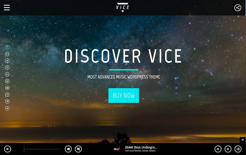 Vice - 40+ Awesome WordPress Themes For Music [year]