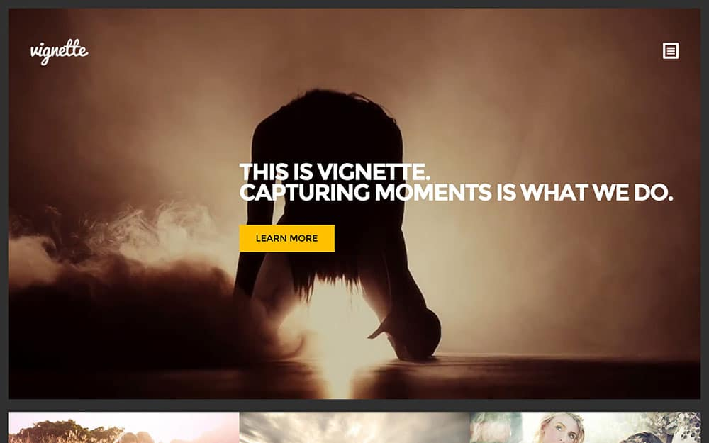 Vignette - 36+ Top Quality WordPress Themes For Photography [year]