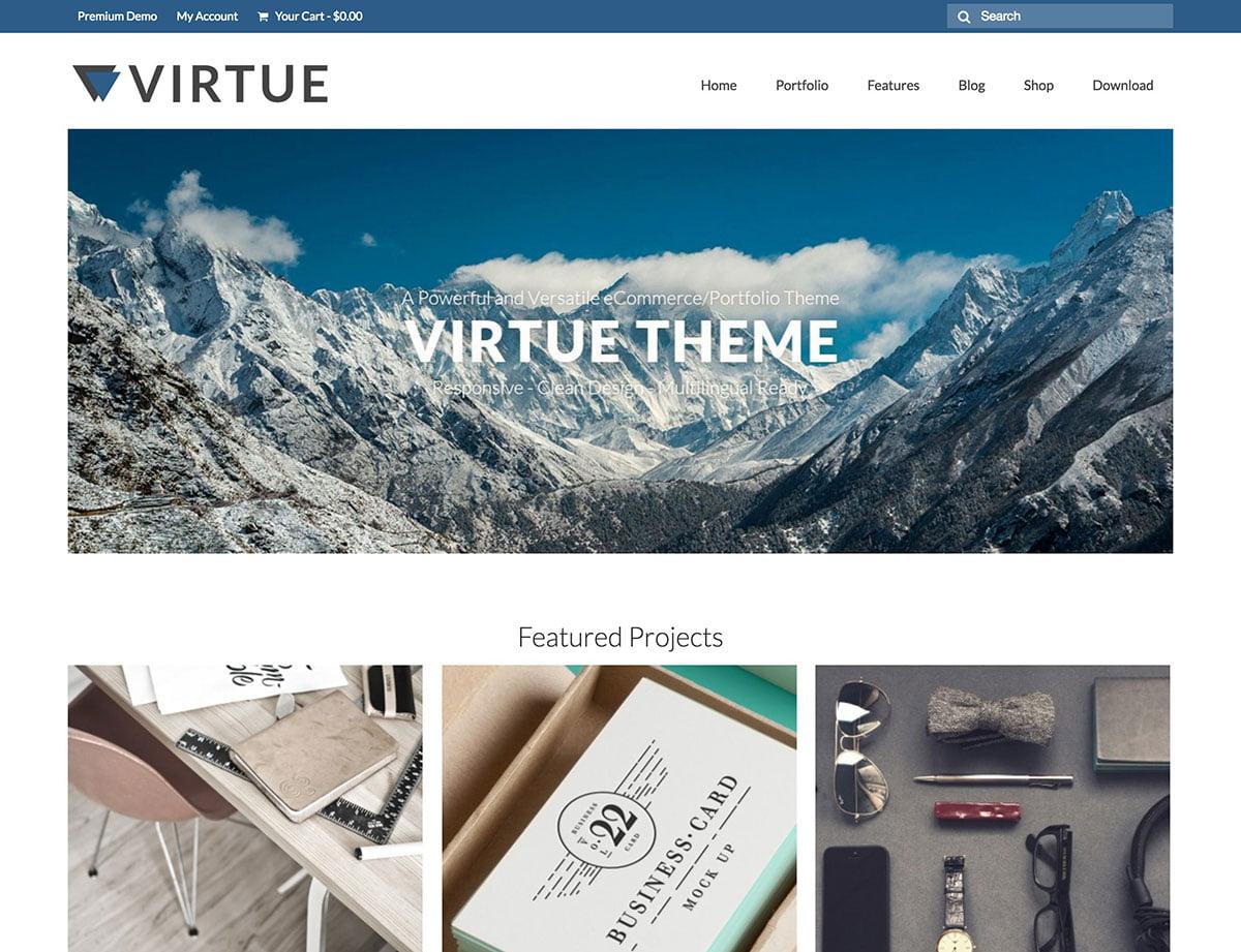 Virtue - 46+ Nice Free WordPress Portfolio Themes [year]