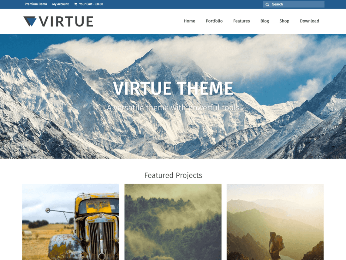 Virtue - 51+ Awesome Free WordPress Themes For Ecommerce [year]