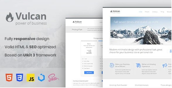 Vulcan - 36+ Awesome Minimalist WordPress Themes [year]