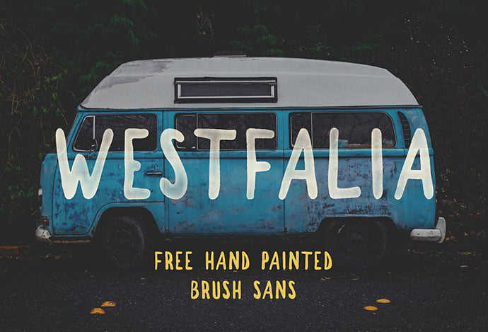 WESTFALIA - 51+ Free Fonts For Calligraphy & Hand Lettering [year]
