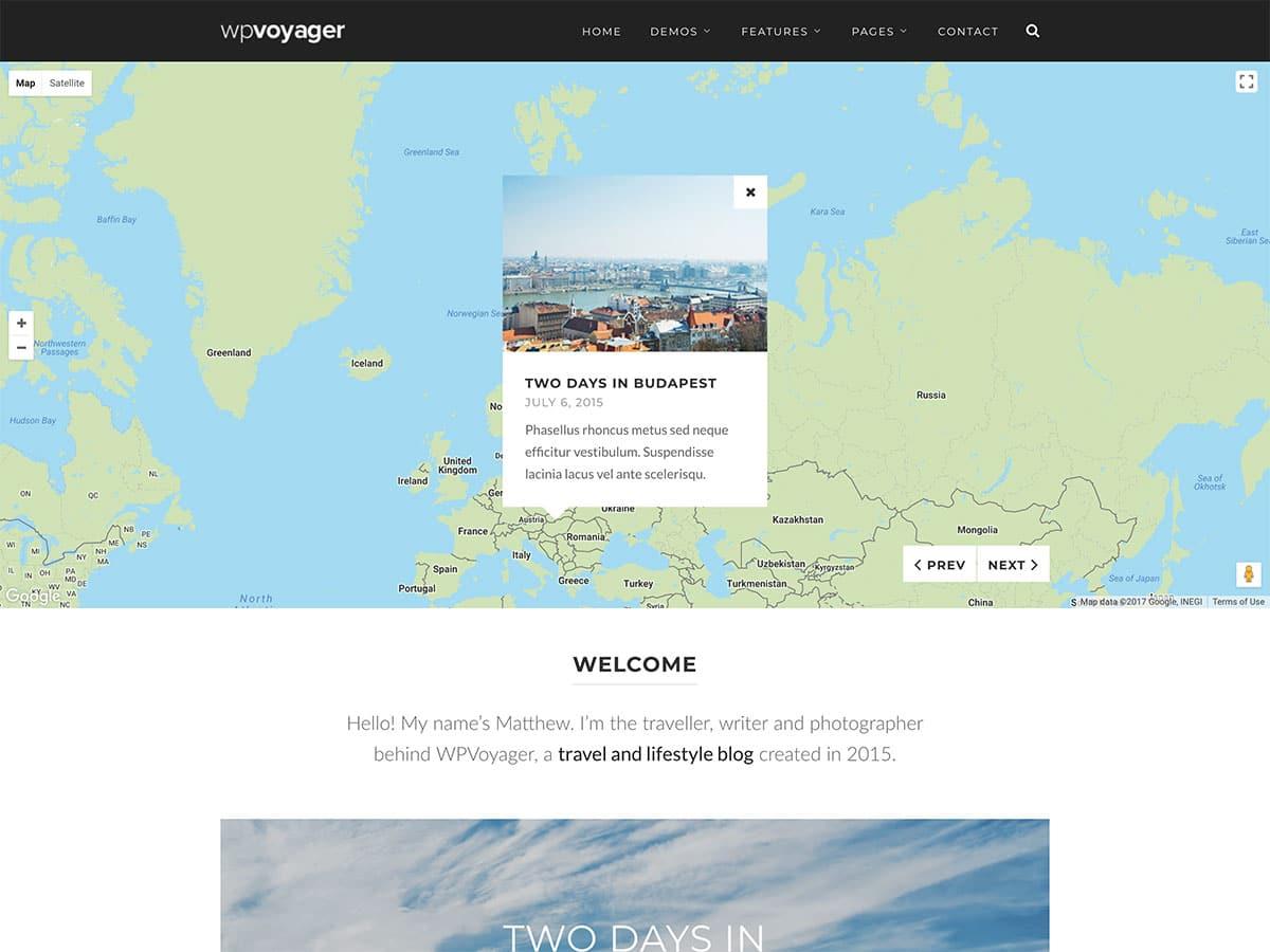 WPVoyager - 30+ Awesome Travel Blog WordPress Themes [year]