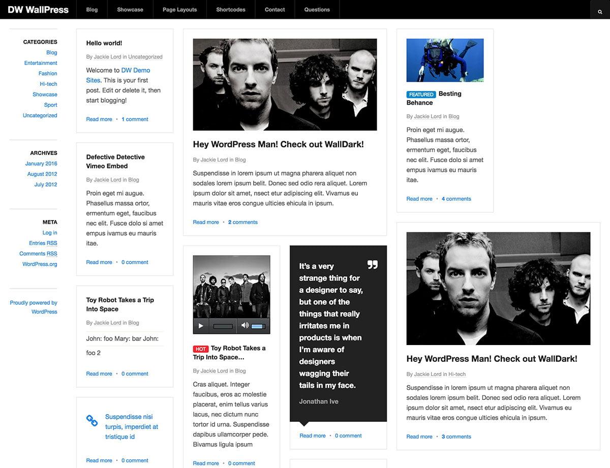 WallPress - 46+ Nice Free WordPress Portfolio Themes [year]