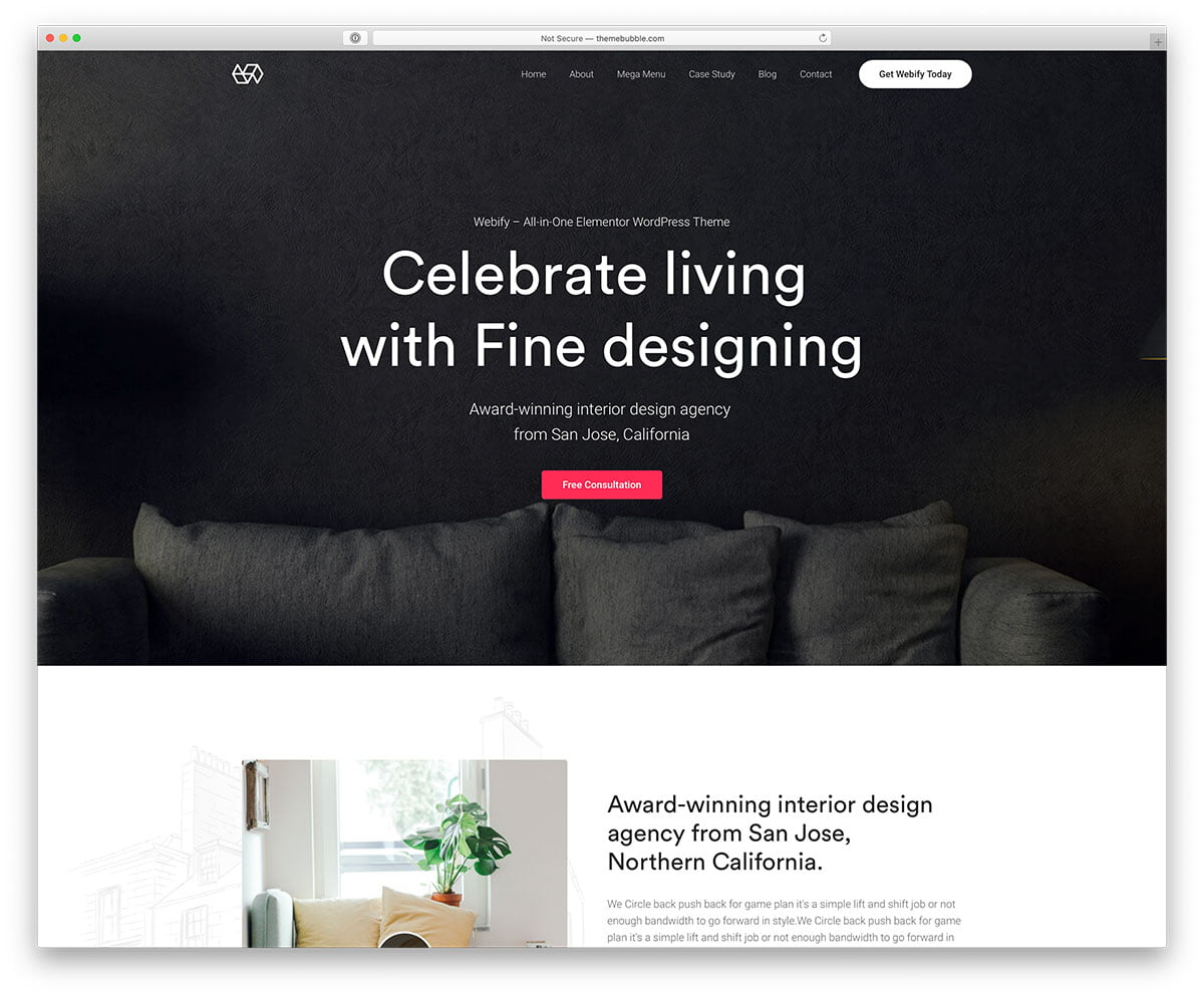 Webify - 36+ Top Quality WordPress Themes For Interior Design [year]