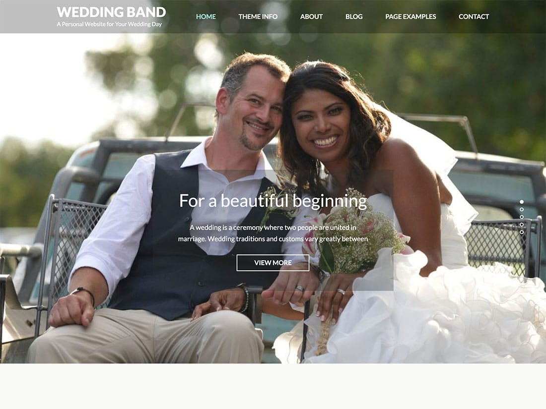 Wedding-Band - 36+ Elegant Free WordPress Wedding Themes [year]