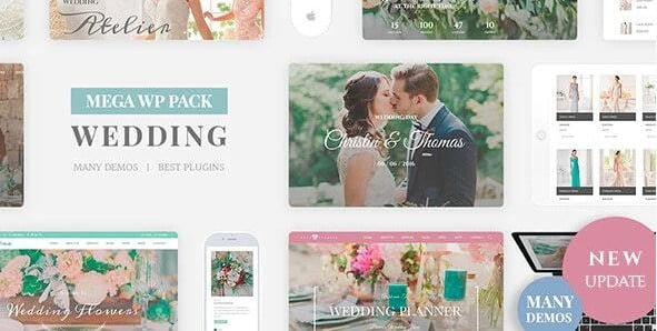 Wedding-Industry - 36+ Elegant Free WordPress Wedding Themes [year]
