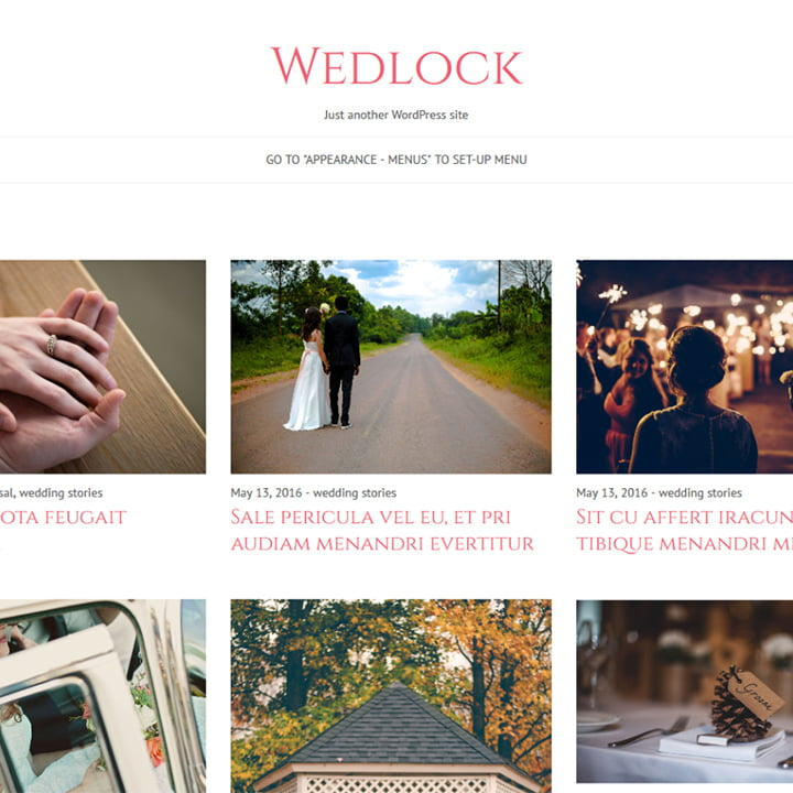 Wedlock - 36+ Elegant Free WordPress Wedding Themes [year]