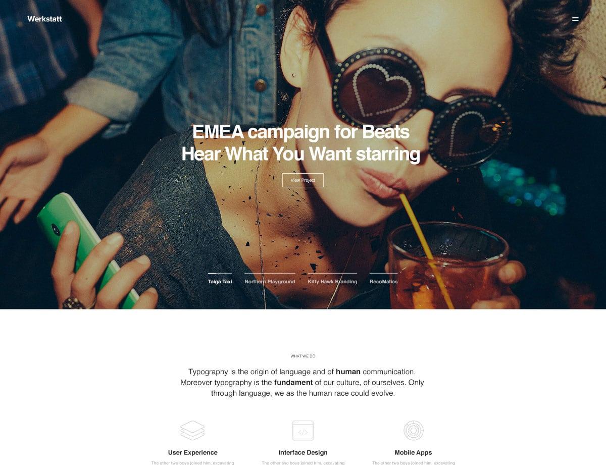 Werkstatt - 40+ Awesome WordPress Themes For Creative Agency [year]