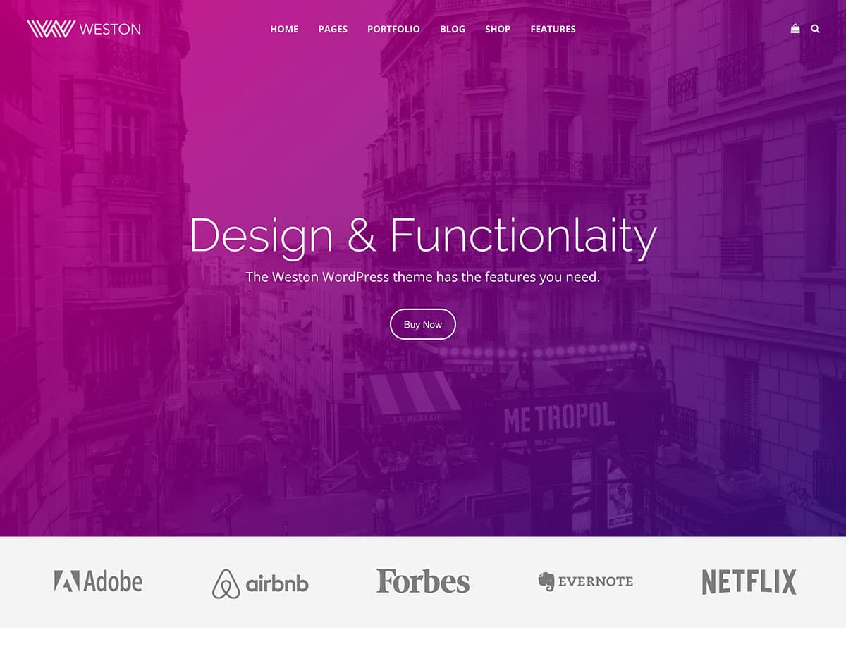 Weston - 40+ Awesome WordPress Themes For Creative Agency [year]