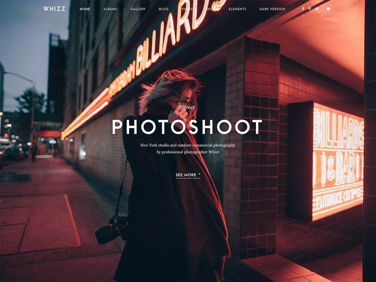 Whizz - 36+ Top Quality WordPress Themes For Photography [year]