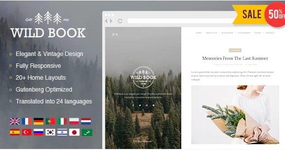 Wild-Book - 36+ Best Quality Retro WordPress Themes [year]