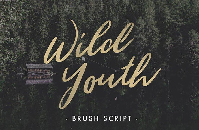 Wild-Youth - 51+ Free Fonts For Calligraphy & Hand Lettering [year]
