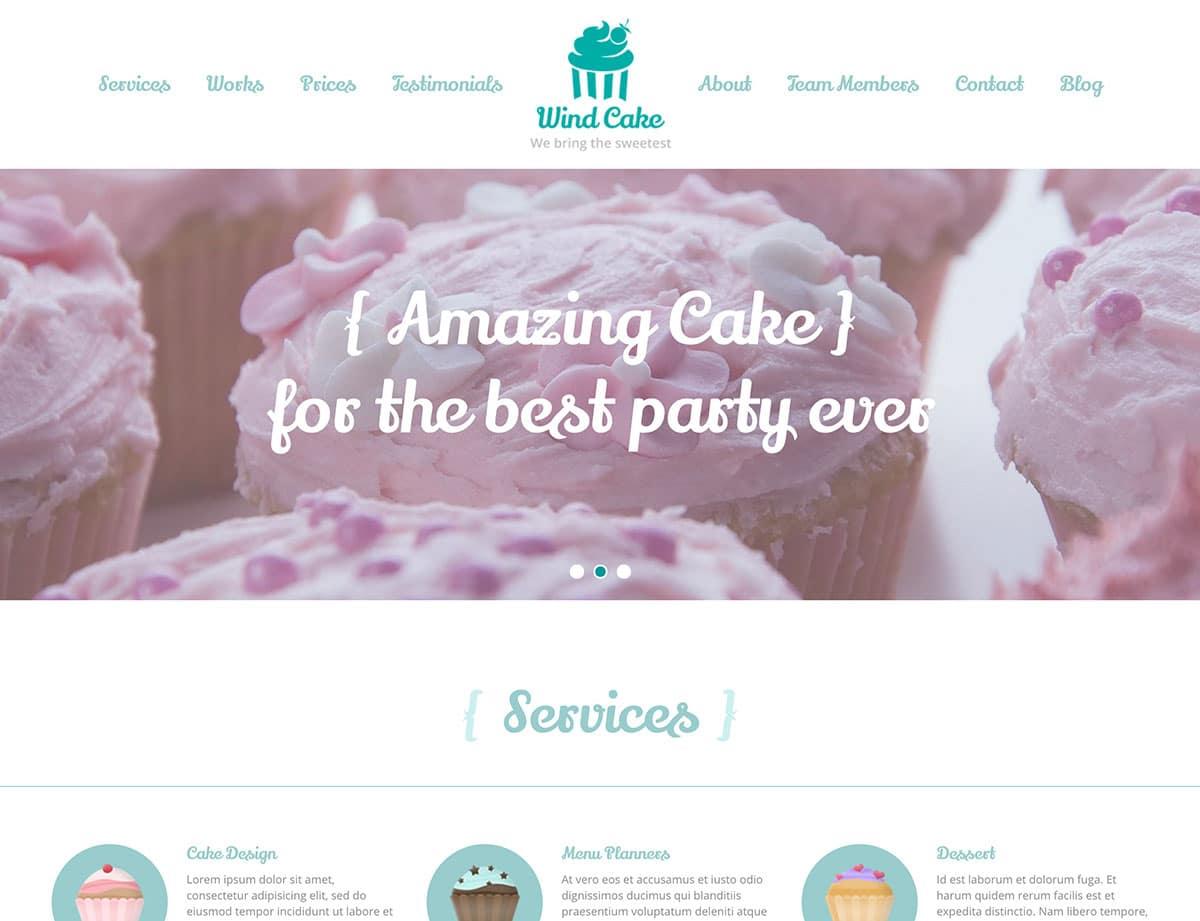 WindCake-1 - 30+ Amazing Bakeries WordPress Themes [year]