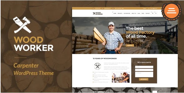 WoodWorker - 36+ Awesome Plumbers WordPress Themes [year]