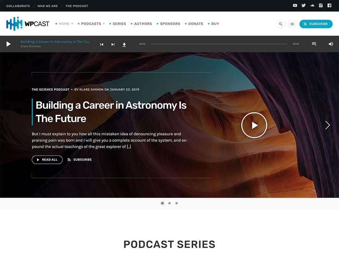 Wpcast - 36+ Awesome WordPress Themes For Podcast [year]