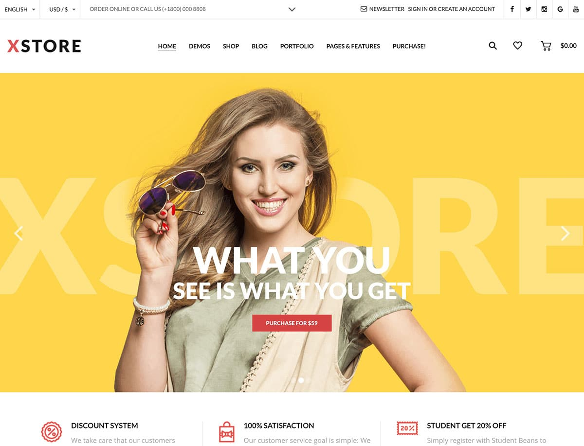 XStore-1 - 41+ Top WordPress Themes For Woocommerce [year]