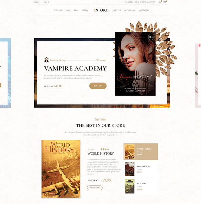 XStore - 31+ Nice Librarian & Bookseller WordPress Themes [year]