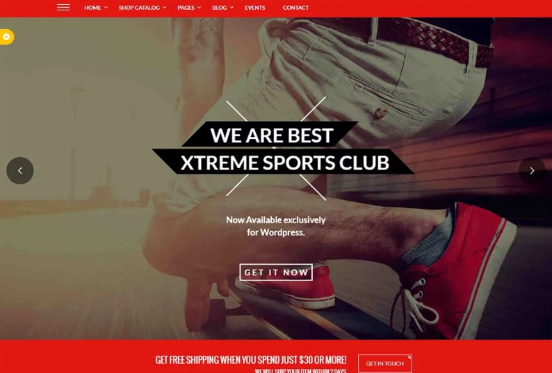 Xtreme-Sports - 36+ Nice WordPress Golf Themes For Golf Clubs Websites [year]