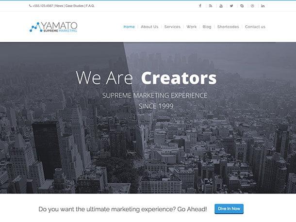 YAMATO - 36+ Awesome WordPress Marketing Themes [year]
