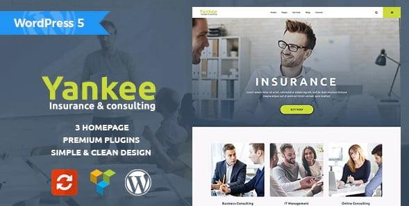 Yankee - 36+ Amazing WordPress Insurance Themes [year]