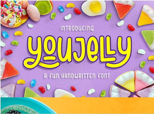 Youjelly-Font - 31+ Amazing Free Double & Multi Line Fonts For Developer [year]