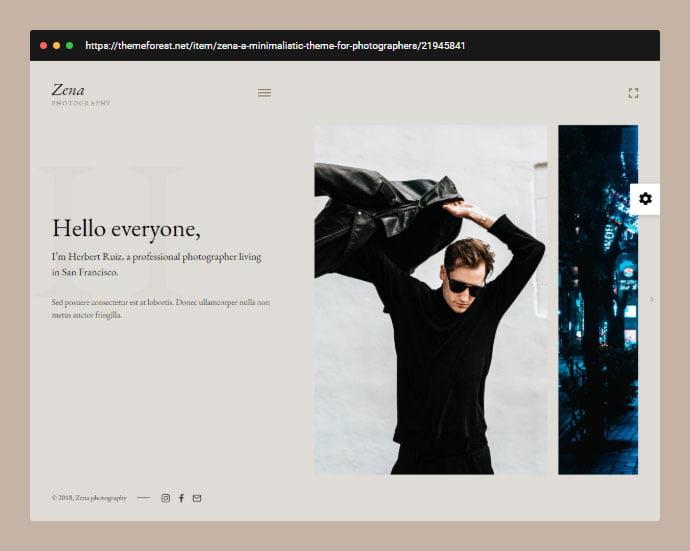 Zena - 31+ Awesome Wedding Photography Service WordPress Themes [year]