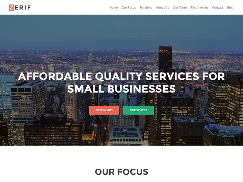 Zerif-Pro - 60+ Nice WordPress Themes For Business [year]