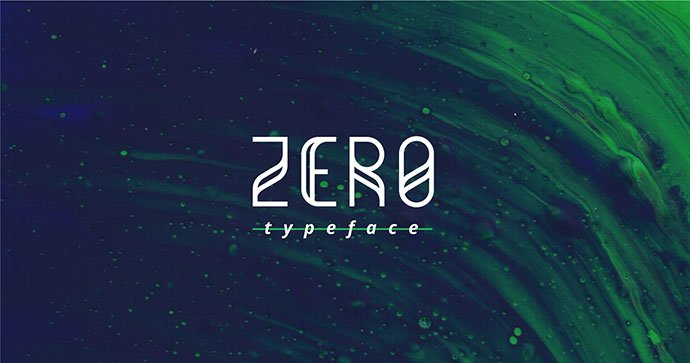 Zero-Free-Typeface - 31+ Amazing Free Double & Multi Line Fonts For Developer [year]