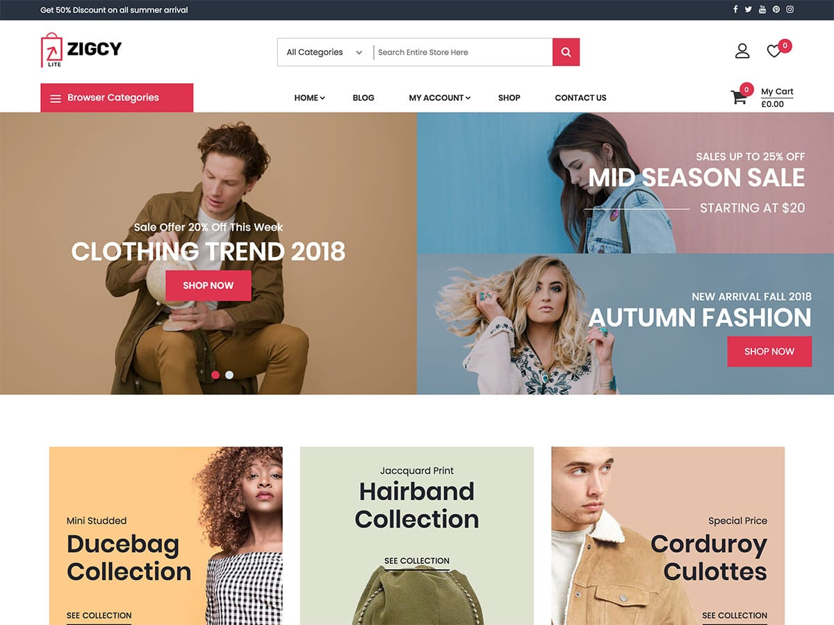 Zigcy-Lite - 51+ Awesome Free WordPress Themes For Ecommerce [year]