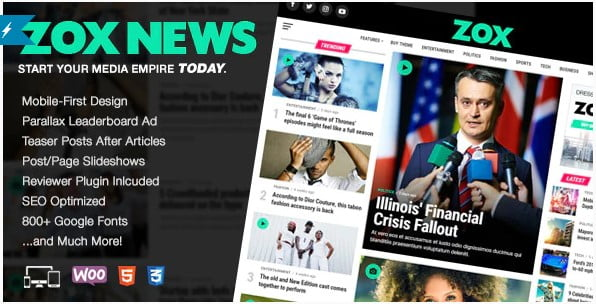 Zox-News - 30+ Top Quality WordPress Themes For Viral [year]