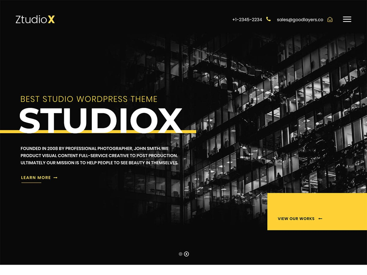 Ztudio-X - 31+ Amazing WordPress Themes For Creative [year]